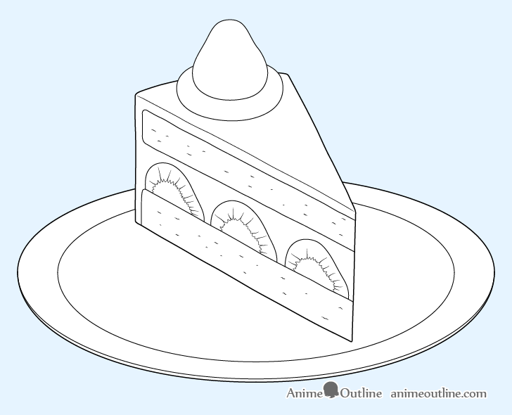 Cake slice layer details drawing
