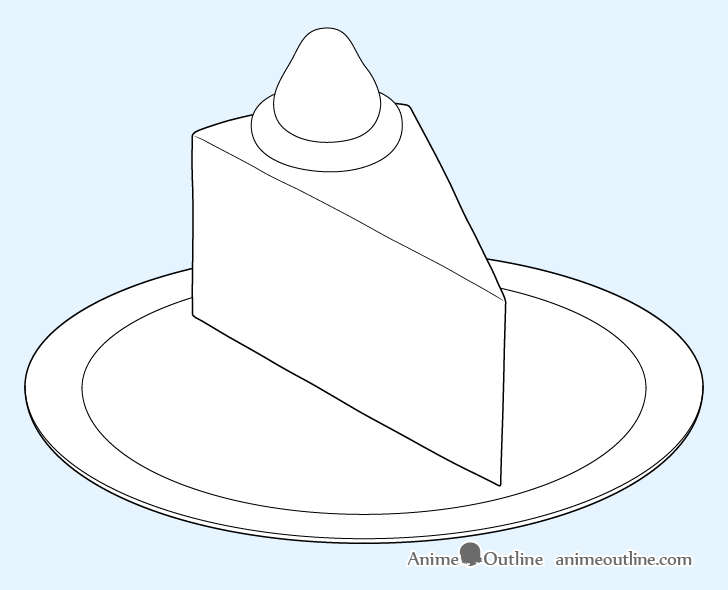 Cake slice plate details drawing