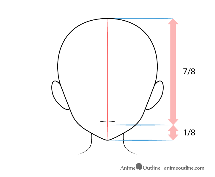 Anime mouth front view drawing