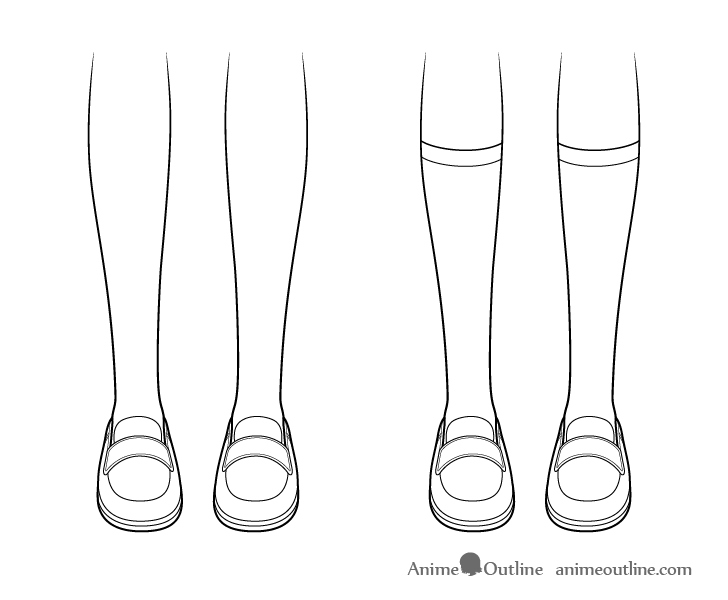 Anime socks drawing