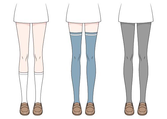 Anime socks stockings and tights