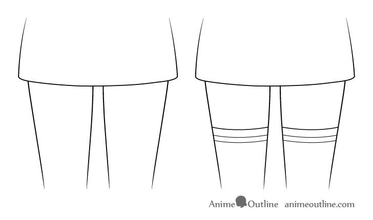 Anime stockings drawing