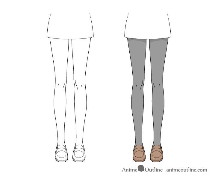 Anime tights drawing step by step