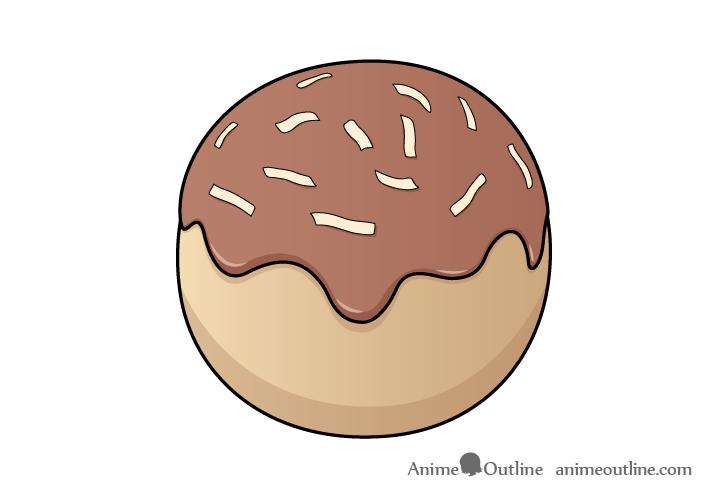 Takoyaki ball drawing