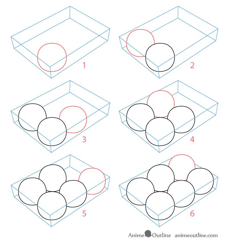 Takoyaki balls drawing step by step