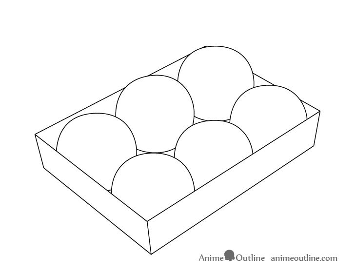 Takoyaki outline drawing