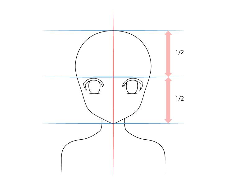 Anime panda girl eyes drawing