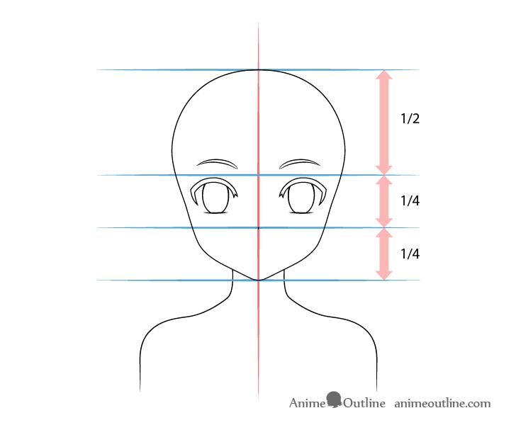 Anime panda girl nose drawing